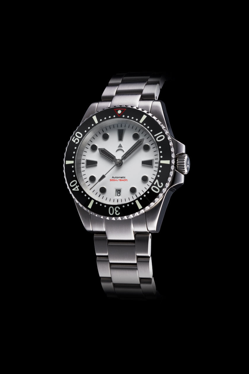 Axios Watches Ironclad 40 Full Lume White