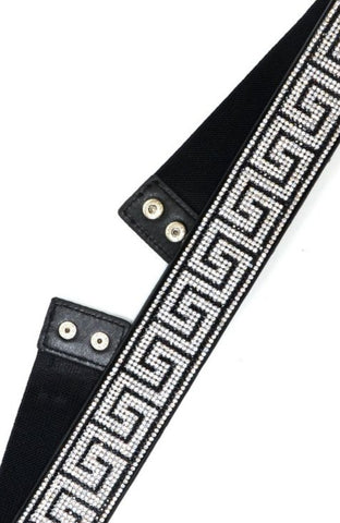 Rhinestone Greek Electric Belt