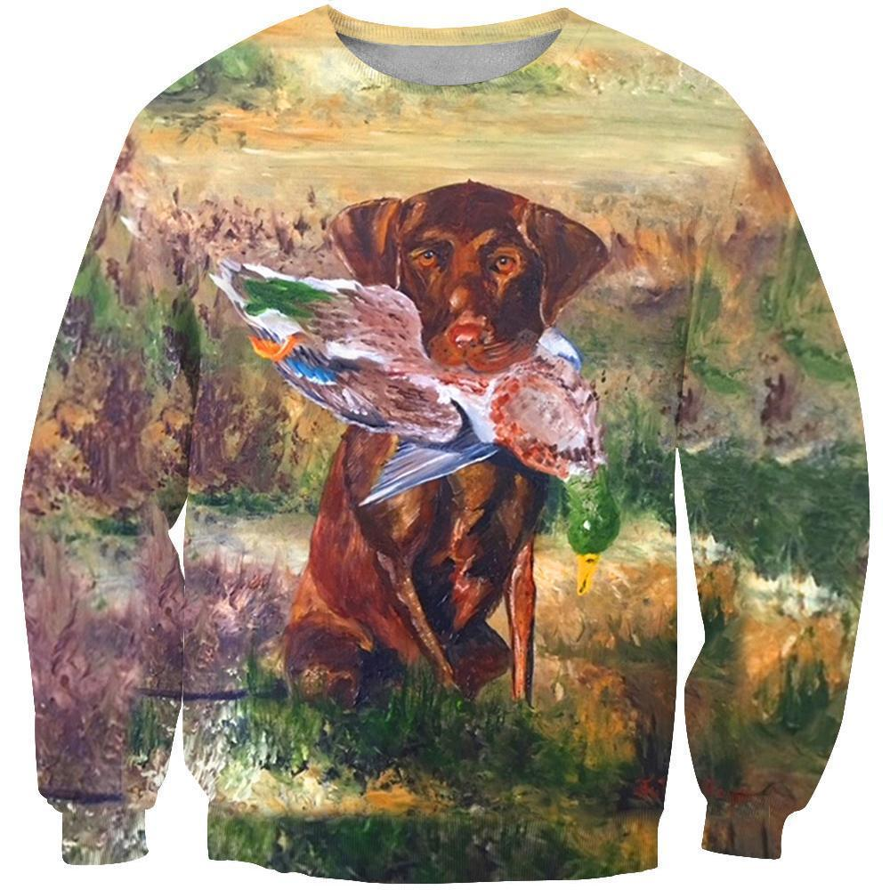 6086d6975804 3D All Over Print Hunting Dog Duck Hoodie - The Sweet Paws