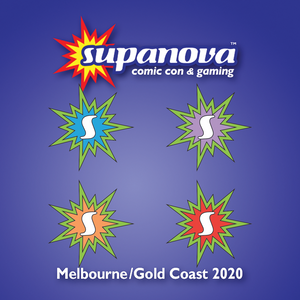 Turtles Themed 4-Pack Supanova Starburst Logo - March 2020