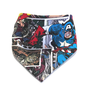 Clouds and Superhero's Over Collar Dog Bandana