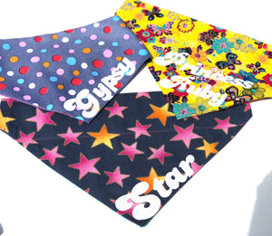 Rainbow Kaleidoscopic Snaps Dog Bandana