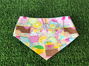 Summer Lemonade Snap on  Dog Bandana