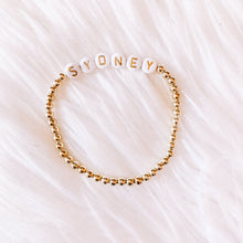 Load image into Gallery viewer, Name Bracelet- Gold & White