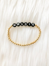Load image into Gallery viewer, Name Bracelet- Black letters