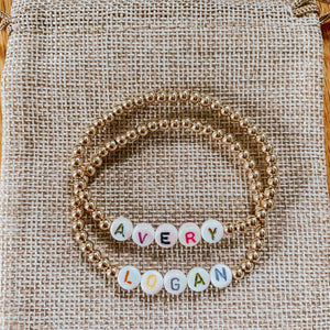 Pearlized Letter Name Bracelet