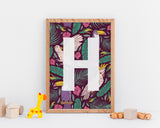 Wall Print - Customised Bird Letter