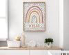 Wall Print - Hello Rainbow Earth Tones