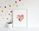 Wall Print - Floral Heart