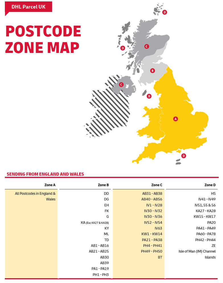 Our UK Delivery Zones