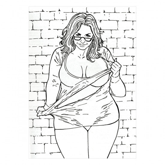 Totally Curvy Coloring Book #NSFW