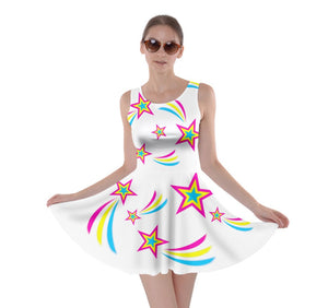 Pan Pride Skater Dress- White Background
