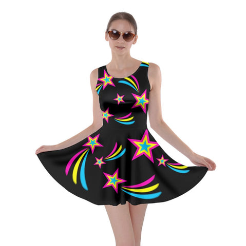 Pan Pride Skater Dress- Black Background