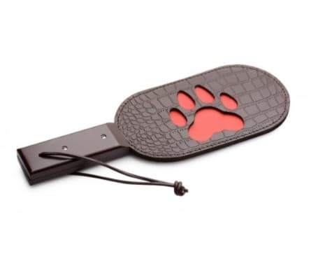 Paw Print Leather Paddle