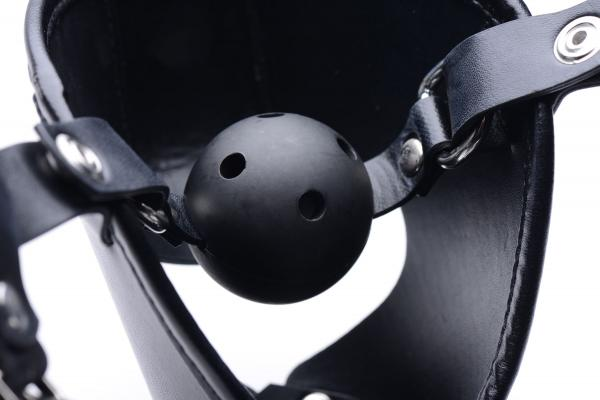 Pup Play Hood with Removable Ball Gag