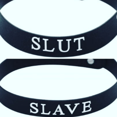 Silicone Slut or Slave Collar
