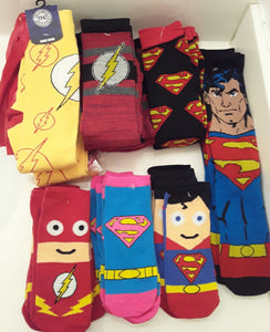 Superman and Flash Socks