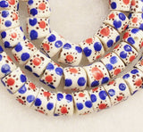 African Recycled Glass Beads (16), Krobo Powder Glass Beads (b32)