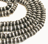 100 African Ebony Wood Beads from Mali, Ethnic Beads, Wood and Metal Beads (P44))
