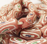 Large African Powder Glass Beads (10), Tribal Beads, Ethnic Beads (N47)