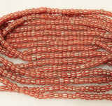 Red Indo Pacific Seed Glass Beads 22 inch, Indonesian Beads (F28)
