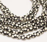 African Polka Dot Bone Beads, Black and White Beads, Ethnic Jewelry Supplies (*AG170*)