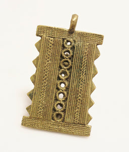 Lost Wax African Pendant, Ethnic Jewelry Supplies (TA165)