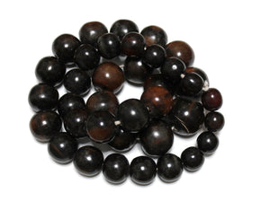 Large Black African Horn Beads Strand, Ethnic Beads, Tribal Beads, Jewelry Supplies (WA304)
