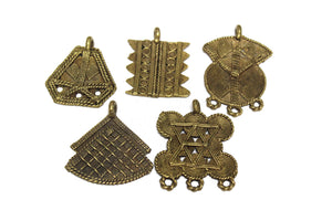 5 African Brass Pendant from Ivory Coast (WA432)