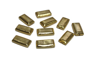 Rectangle Brushed Gold Beads 23x12 mm, Hollow Gold Plated Beads(WA55)