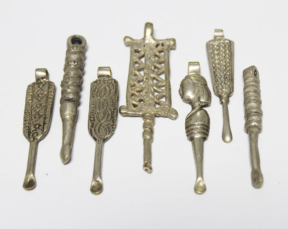 Ethiopian Ear Spoon Pendants, Ethnic Jewelry Supplies, African Pendant (AP116)