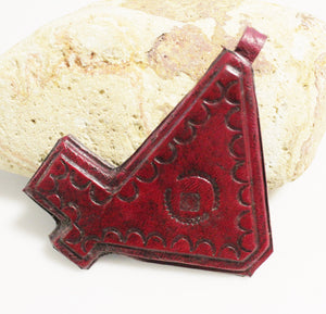 African Leather Pendant Mali Tuareg, Tribal Jewelry Supplies, Artisan Pendant (AJ37)