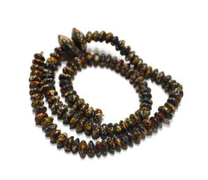 100 Small African Disc Clay Beads, Colorful Ethnic Beads (VA256)