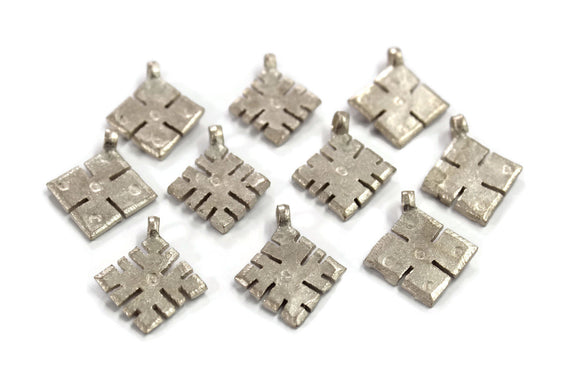 Little Cross Charms made in Ethiopia, Coptic Cross Pendants, African Jewelry Supplies (SA82)