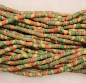 African Powder Glass Beads Full Strand, Colorful Tribal Beads, Old African Beads (B40)