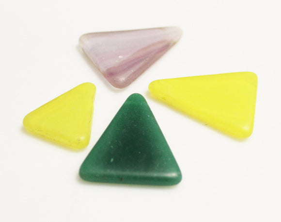 Bohemian Triangle Glass Pendants, Mali Wedding Beads, African Trade Beads (*AH20*)