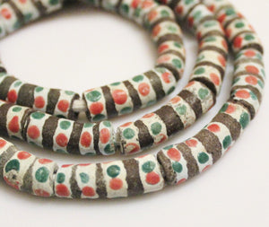 Colorful African Glass Beads (8), Ethnic Beads , Rustic Beads (N146)
