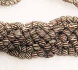 Brown Striped Indonesian Beads 60 cm Strand, Java Beads, Modern Indo Pacific Beads