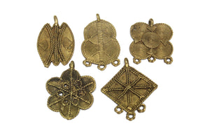 5 African Brass Pendant from Ivory Coast (WA376)