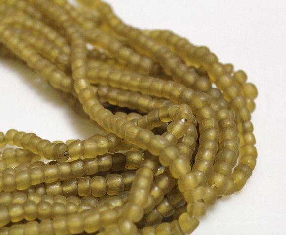 Indonesian Seed Beads, Semi Translucent Java Beads, Ethnic Jewelry Supplies (T121)