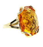 Citrine Yellow gold Ring.