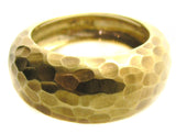 Gold hammered Ring.