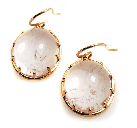 Rose Quartz Earrings. .