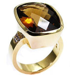 Smokey Topaz ring .