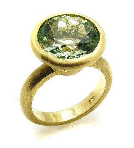 Green Quartz Ring .