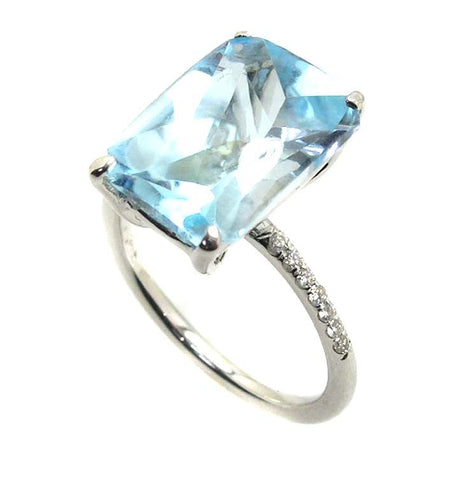 BLUE TOPAZ RING .