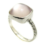 Rose Quartz ring .