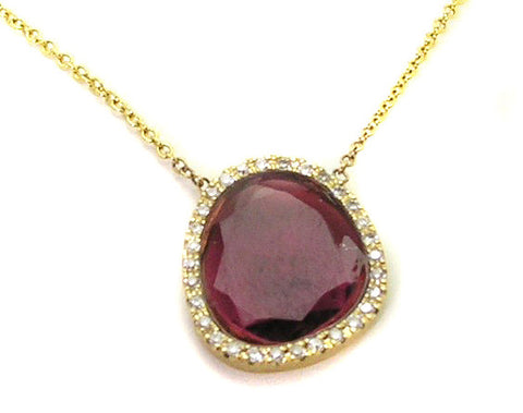 Red Tourmaline Pendant