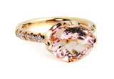 Morganite Ring .