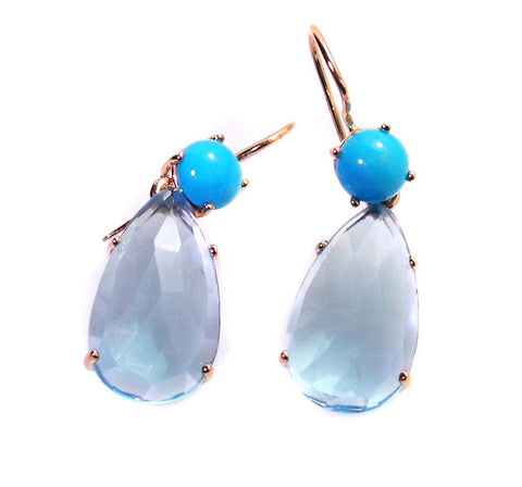 Topaz earrings .